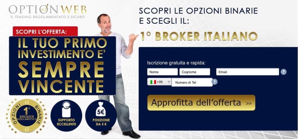 Iscrizione broker OptionWeb