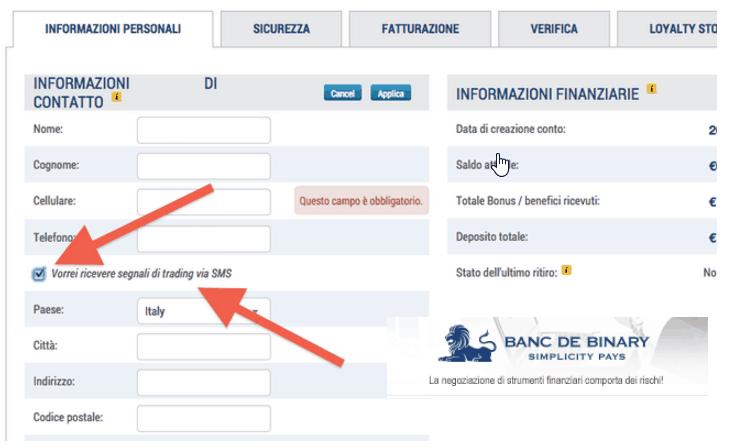 Recensione Banc de Binary, opinioni e demo