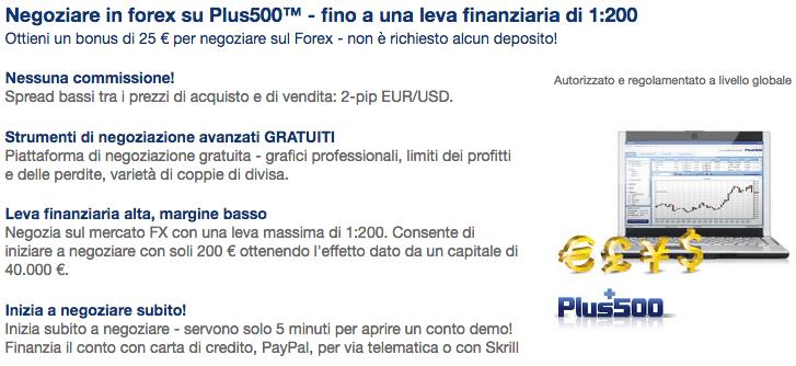 PLUS500-Caratteristiche