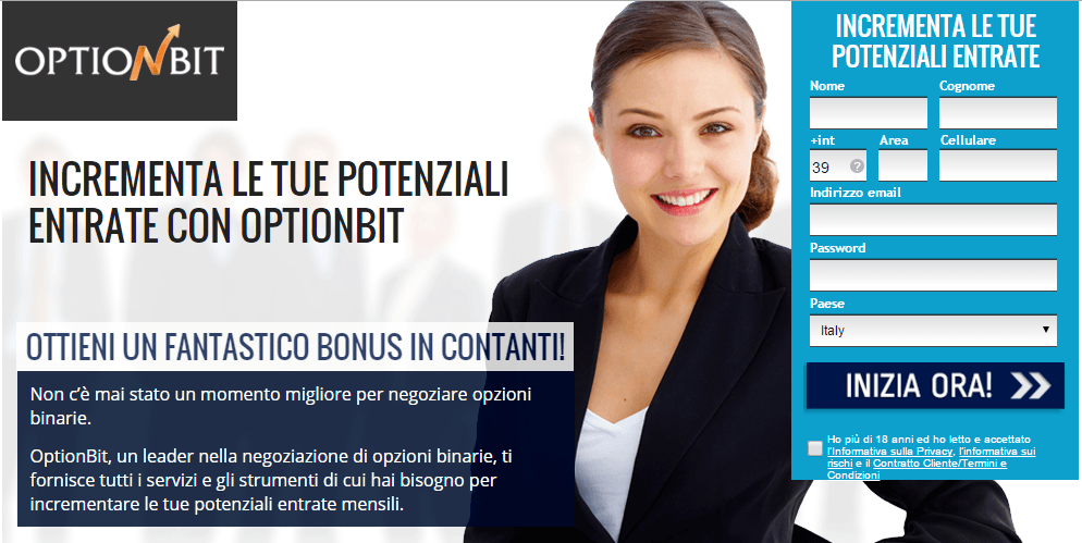 optionbit-conto demo-registrazione