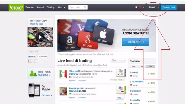 Trading online con azioni Google