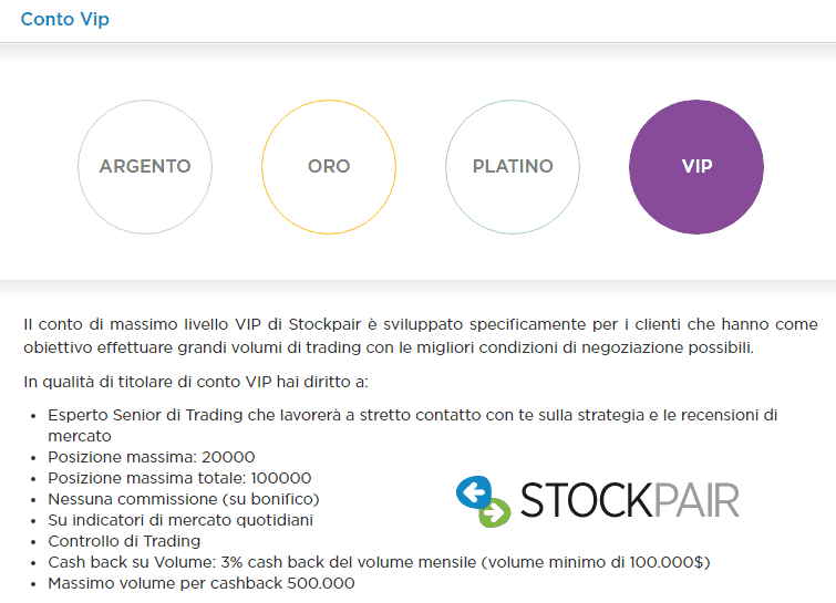 stockpair-conto vip