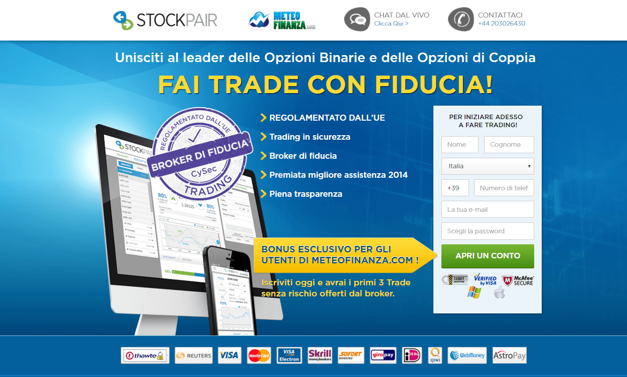 Demo opzioni binarie stockpair