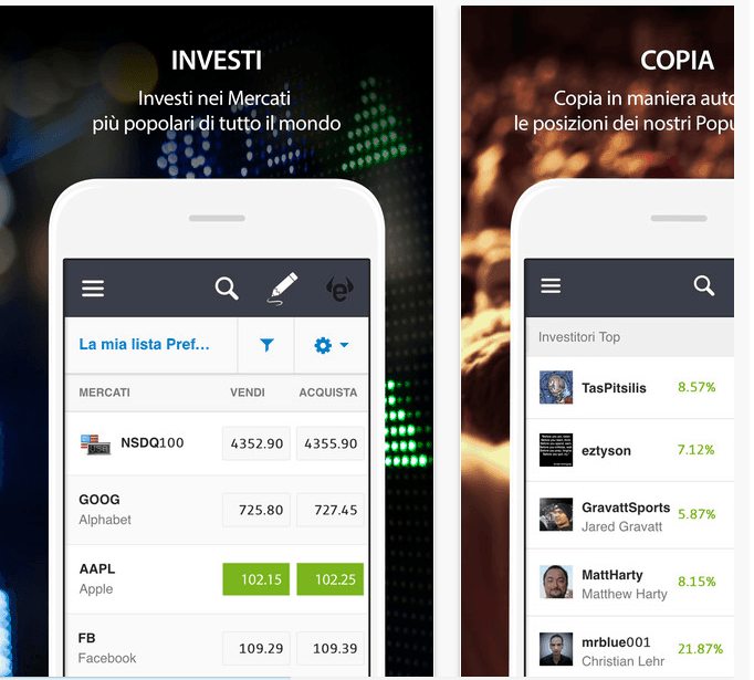 Trading mobile: Forex/CFD – App Android e iOS