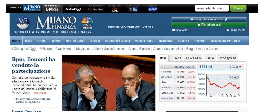 Milano Finanza: recensione quotidiano economico-finanziario