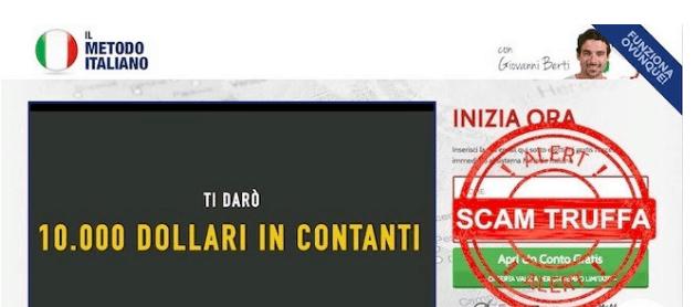Trading con il Metodo Italiano di Giovanni Berti: Attenzione è una Truffa