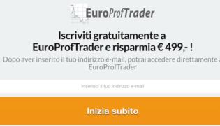 Europroftrader truffa o funziona ? Non è sicuro: opinioni e commenti