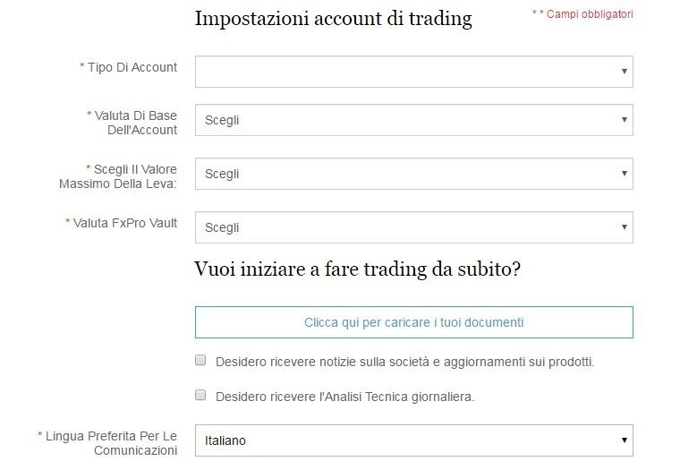 FxPro: opinioni, recensione e demo broker FxPro.it