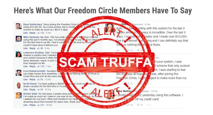 Freedom circle: truffa/scam o robot per fare soldi facili?