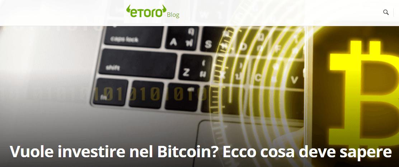 eToro criptovalute: trading bitcoin, ethereum, ripple, litecoin con eToro [Guida]