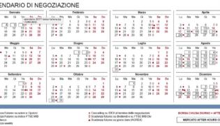 Calendario Borsa Italiana 2017: orari e giorni apertura chiusura negoziazione