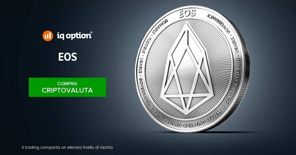Cripotvaluta EOS offerta da IQ Option