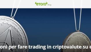 Fare trading di criptovalute su eToro: perché conviene? 3 vantaggi