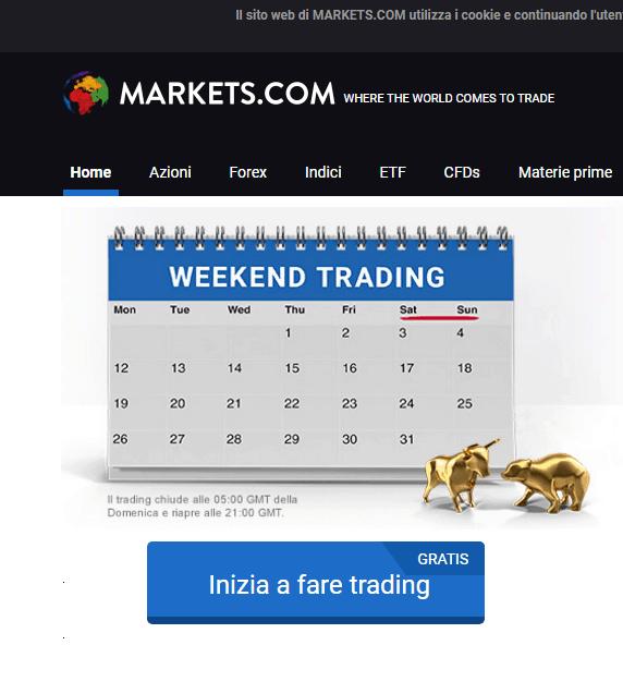 Eventi ed operazioni Markets.com