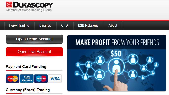 dukascopy: formazione di trading online