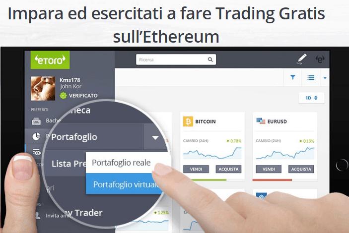 """Acquista / Vendi"""" o """"Scambia"""" Ethereum con il Trading CFD- Guida ai broker per investire"""