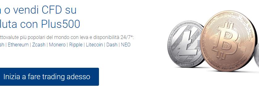 trading bitcoin plus500