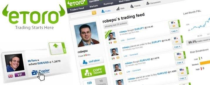 Piattaforma eToro: una settimana di trading