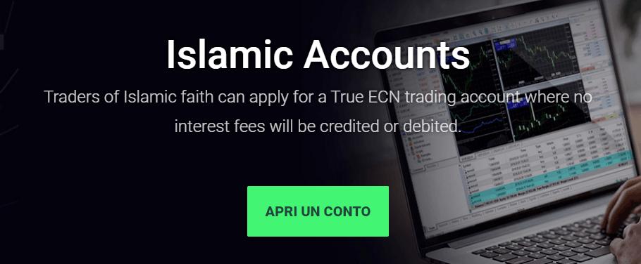 Conto islamico IC Markets