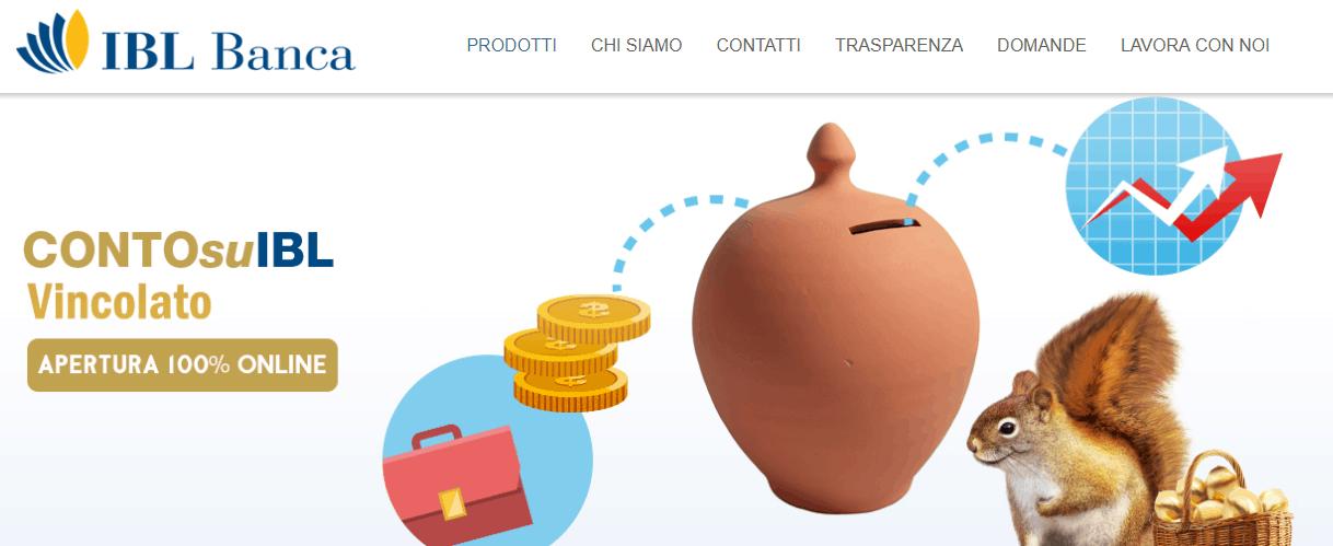 ContoSuIBL vincolato: conto deposito IBL Banca
