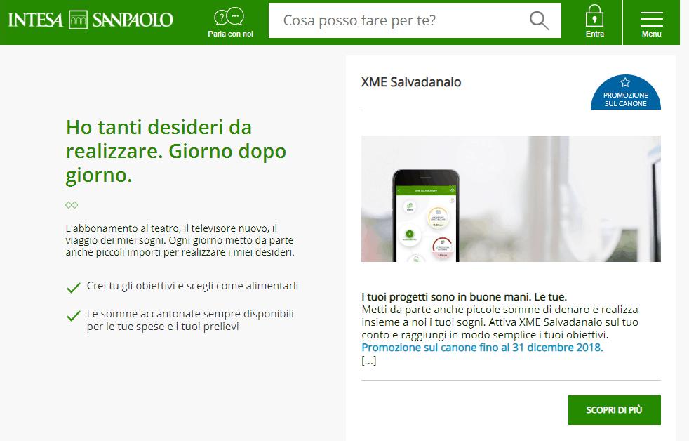 Intesa San Paolo conto deposito