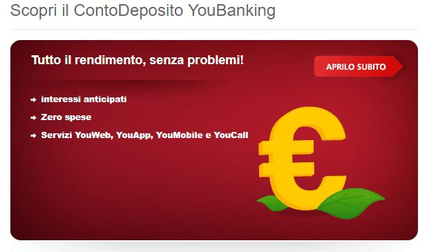 Conto Deposito YouBanking: Opinioni e Recensioni
