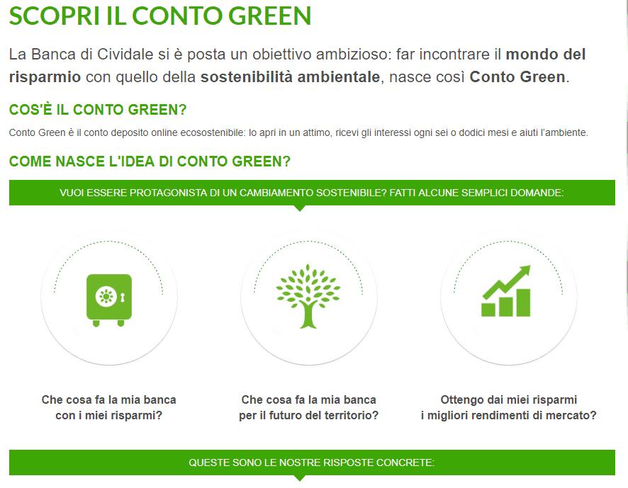 Conto Green opinioni