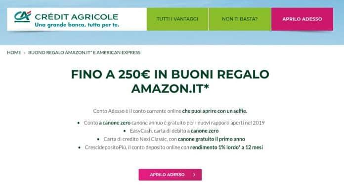 Conto Adesso di Crédit Agricole