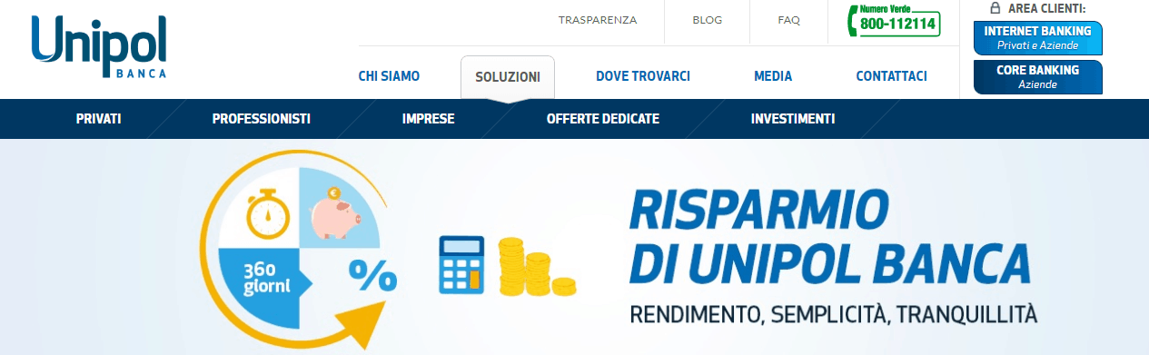 Conto deposito Banca Unipol: Save up! e Time Deposit