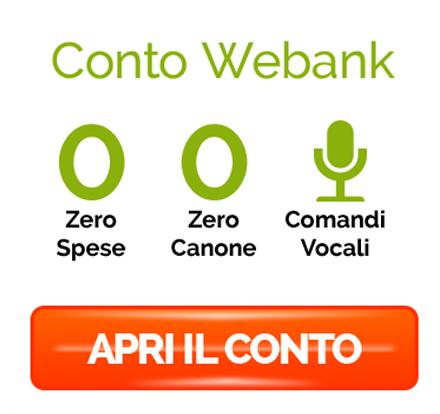 apertura conto corrente Webank