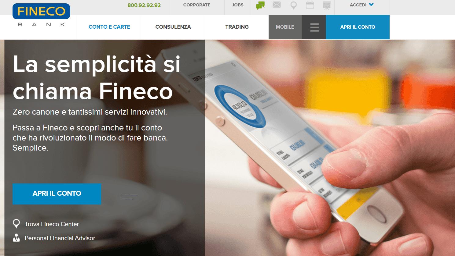 Conto corrente Fineco: Opinioni – Apertura – Costi FinecoBank