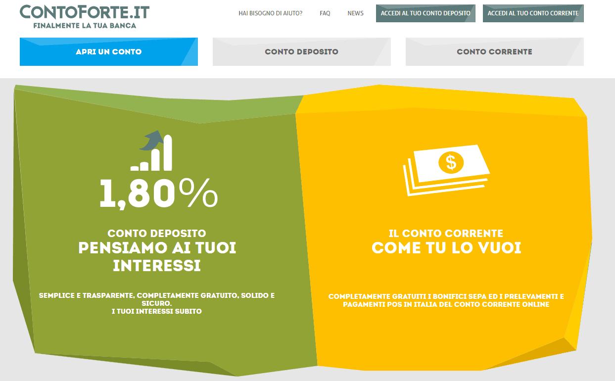 Contoforte.it: conto deposito Time di Banca Mediocredito FVG