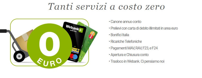 conto webank vantaggi
