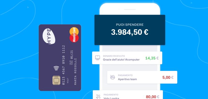 HYPE: carta prepagata a zero spese