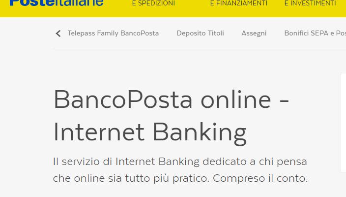 Bancoposta online