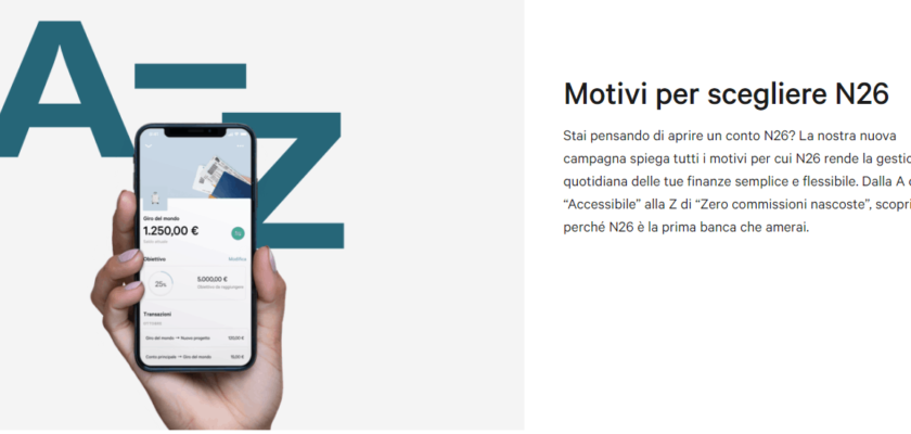 conto corrente N26 mobile