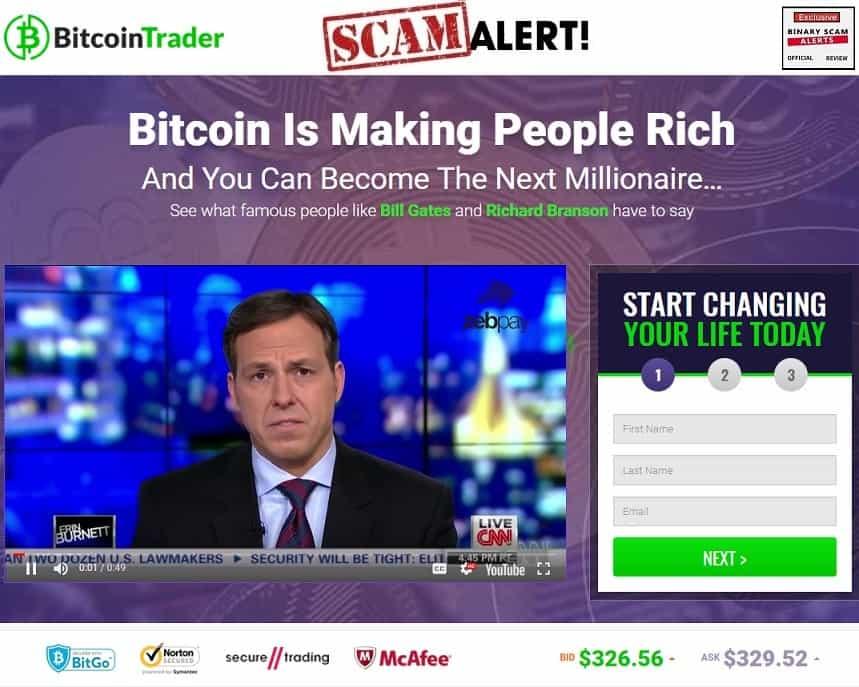 Bitcoin Trader truffa