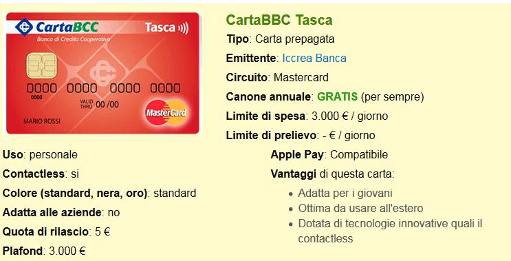 CartaBCC: carte prepagate Iccrea Banca