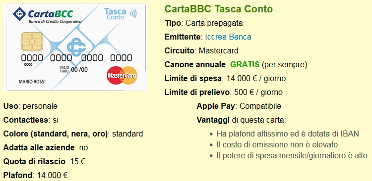 CartaBCC Tasca Conto