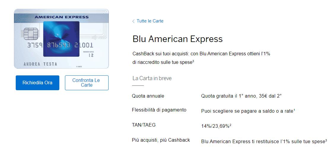 Carta Blu American Express: recensione e opinioni