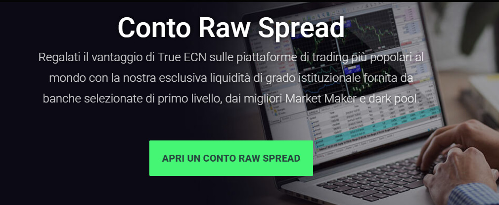 Conto Raw Spread IC Markets Metatrader