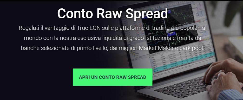 Conto Raw Spread IC Markets Metatrader