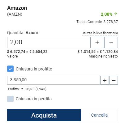 Esempio target price