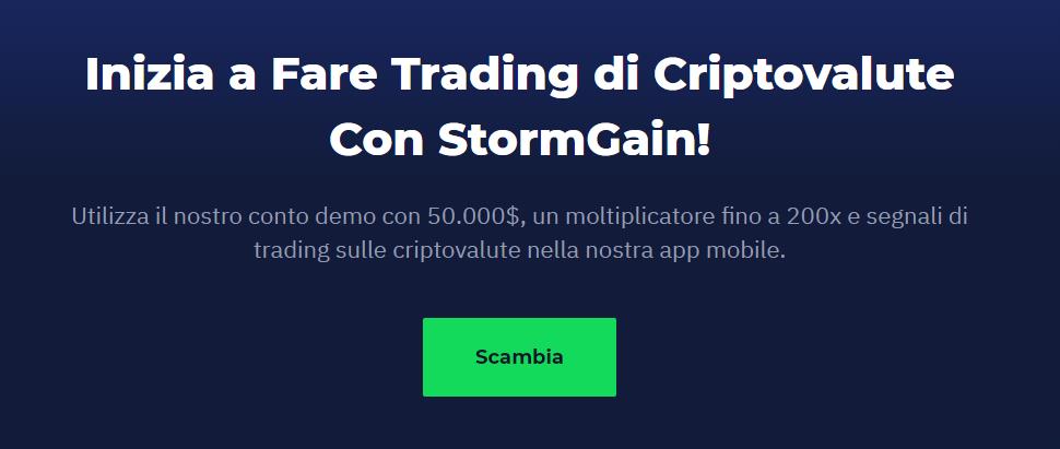 Stormgain conto demo