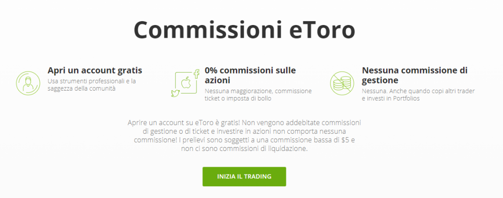 Trading senza commissioni eToro